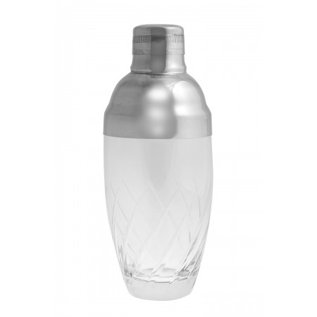 Cocktail Glass Shaker with Side Stripes