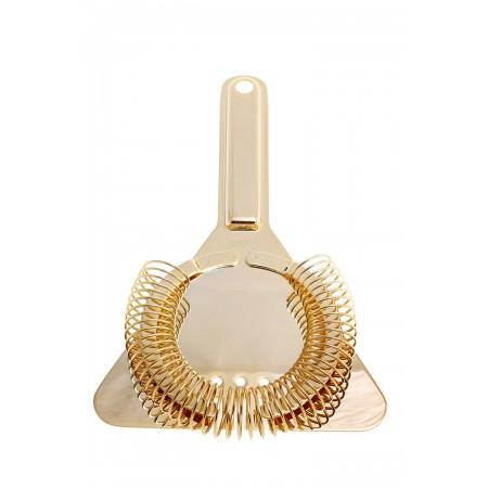 Yukiwa Triangle strainer with handle Gold