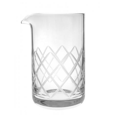 Diamond cut Mixing glass Rona