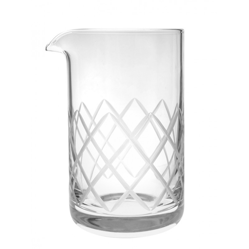 Diamond cut Mixing glass Rona