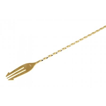 YUKIWA Trident Bar Spoon Gold