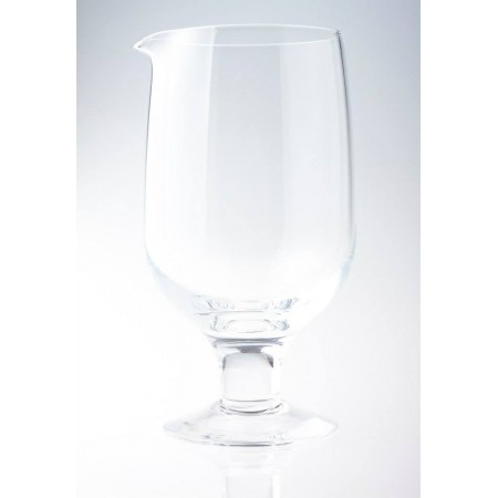 Seamless crystal Japanese mixing glass with leg