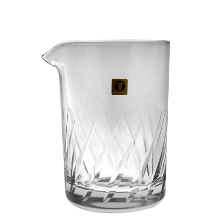 Japanese Mixing Glass Maru-T155 Side Stripes