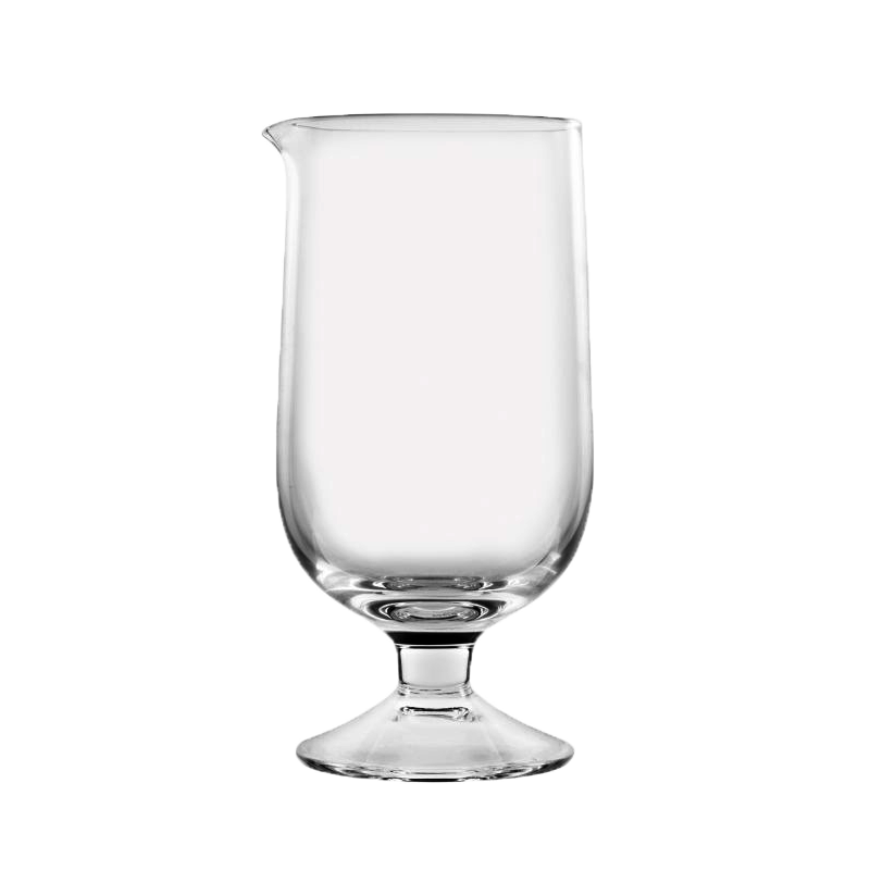Footed Seamless crystal Japanese mixing glass
