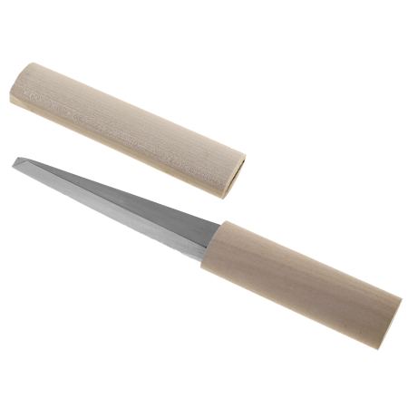 Double edged carving knife