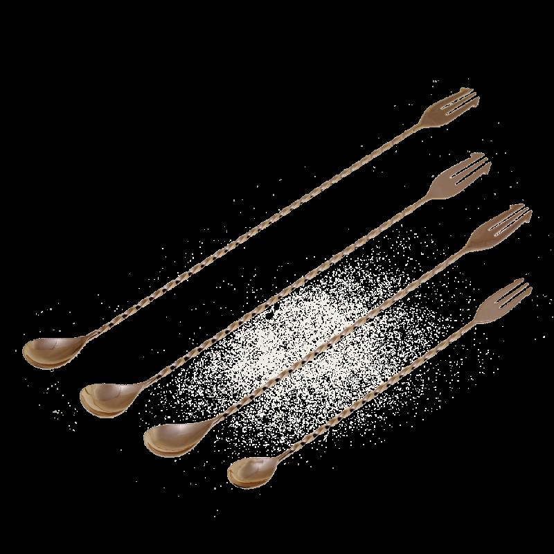 Yukiwa trident bar spoon Rose Gold