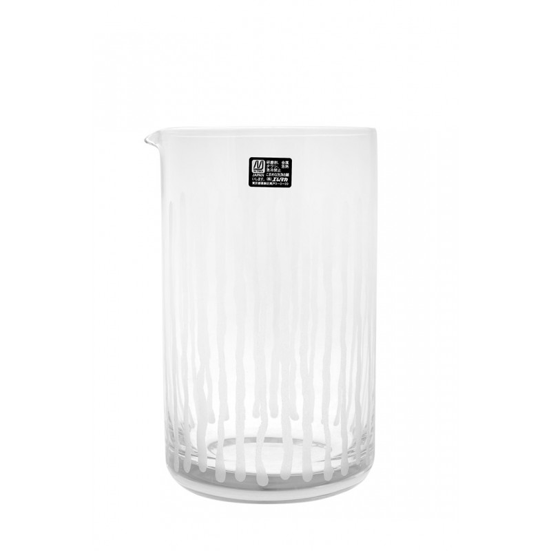 Seamless Japanese mixing glass with stripes